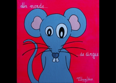 """""""Un monde de dingue"""" (20/20 cm)"""