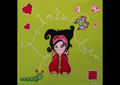 """Love Inès"" (30/30 cm)"