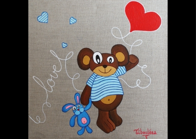 """""""Love ours marin"""" (30/30 cm)"""