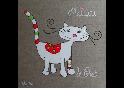 """Miaou le chat"" (30/30 cm)"