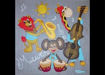 """""""Mewen… Fête de la musique"""" (30/30 cm)"""