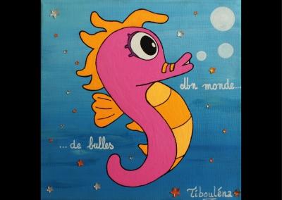 """""""Un monde de bulle"""" (20/20 cm)"""