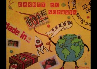 """""""Carnet de voyages"""" (38/46 cm)"""