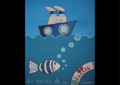 """Un monde de bulles"" (38/46 cm)"