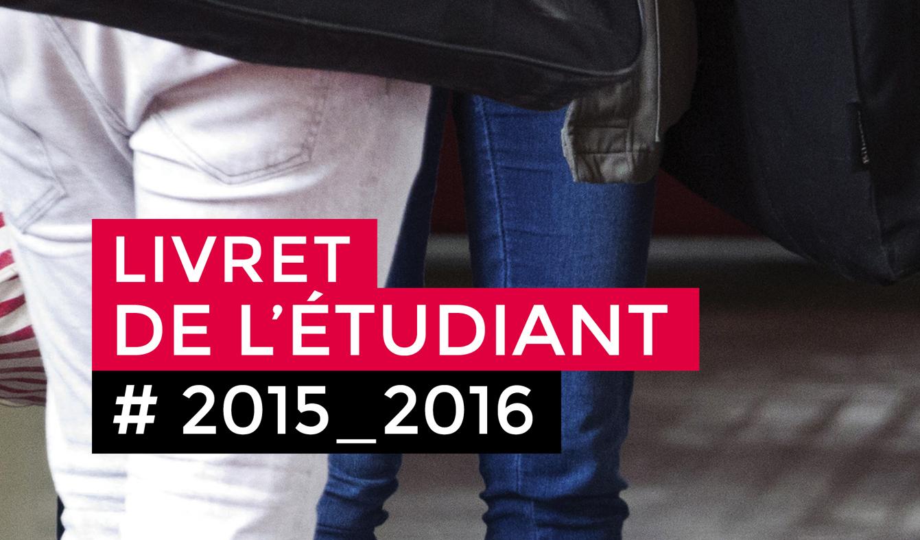 Livret de l'étudiant 2015-2016 / L'Ecole de design Nantes Atlantique